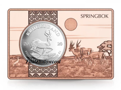 Krugerrand Silver 1 OZ Ingot Copper 3 OZ Krugerrand BAR Year 2020 Silver Copper • 86.50£