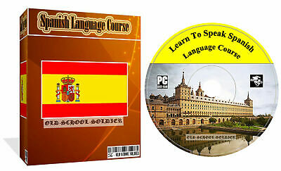 £3.99 • Buy Learn To Speak Spanish Language Course MP3 Audio + PDF Text Lessons PC CD Disk