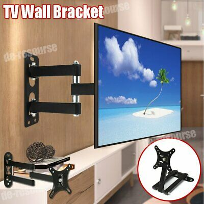 "10 -26"" Full Motion Cantilever TV Monitor Bracket - Wall Mounted Small Arm Stand • 10.43£"