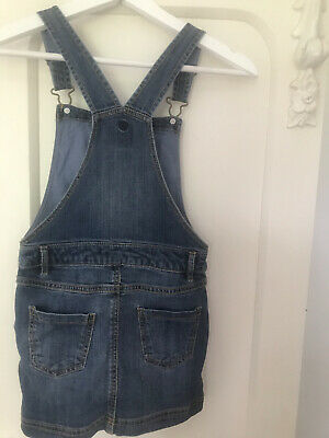 Girls Fat Face Denim Dungaree Dress Age 6-7 Immaculate • 4.99£