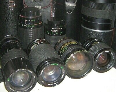 CAMERA ZOOM LENSES + ACCESSORIES - Used  - Click SELECT To View INDIVIDUAL Items • 4.50£