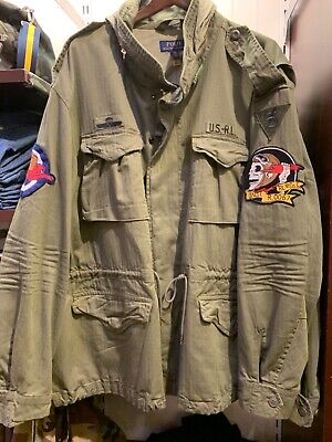 $296.99 • Buy NWT Polo Ralph Lauren Army Green M-65 Skull Patch Military Field Jacket Size XL