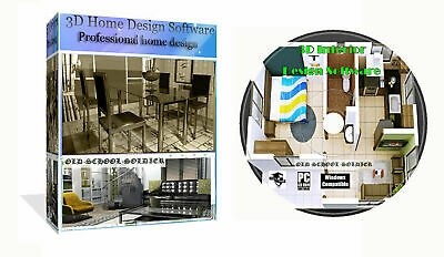 3d 2d Home House Room Office Interior Planing & Design Pro CAD Software PC CD • 3.99£
