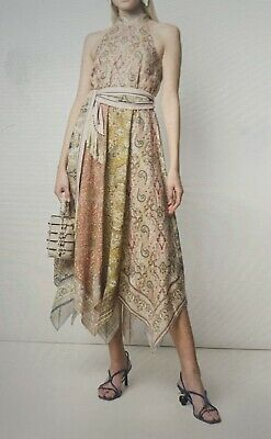 AU299 • Buy Zimmermann Paisley Asymmetric Dress - Size 0