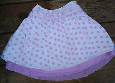 Girls  Polka Dot Skirt Age 2 To 3 White With Purple Spots. • 3.99£