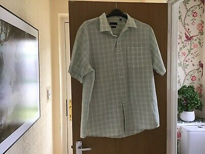 BHS Atlantic Bay Shirt Short Sleeved Size XL • 5.99£
