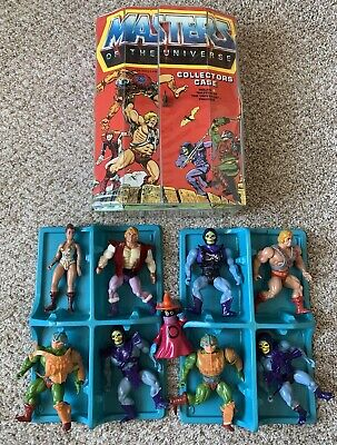 $52 • Buy Masters Of The Universe Collectors Case And 9 Action Figures