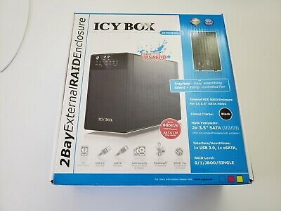 Icy Box IB-RD3620SU3 External 2 Bay RAID System For 3.5 Inch SATA I/II/III HDD • 77£