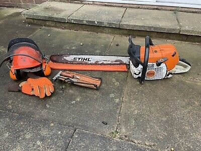 Sthil Chainsaw Ms 441, Sthil Helmet, Gloves And Tool Blade Size 25'' • 550£