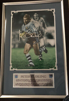AU65 • Buy Signed Sports Memorabilia - Peter Sterling Framed And Signed Photograph