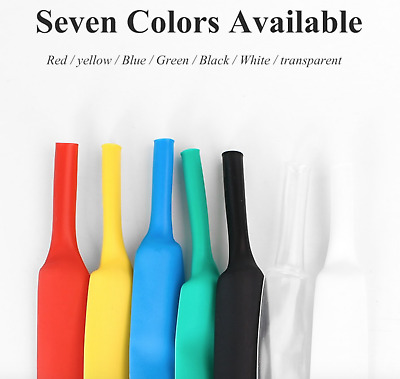 Heat Sleeve Assorted Sizes Colour Length Electrical Cable Tube Shrink Wrap Wire  • 1.55£