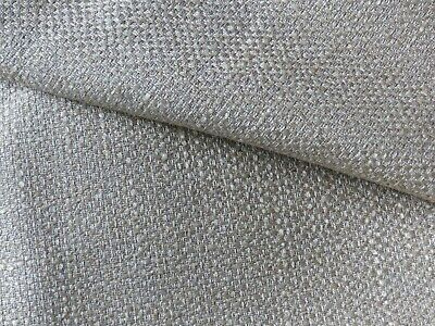 Fabric Curtain Furnishing Loose Weave In Beige To Old Gold Twill Texture • 3£