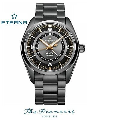 ETERNA Kontiki Automatic Four Hands 1598.33.41.1722 Mens Watch Swiss Diver NEW • 1,149£