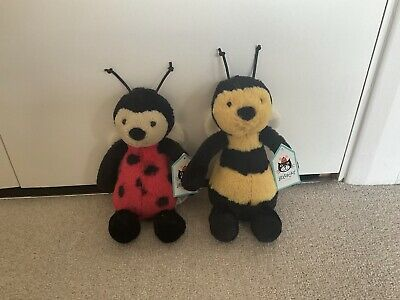 Bee And Ladybug Jelly Cat Soft Toy Bunnies Brand New With Tags • 10.50£