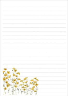 £3.65 • Buy Assorted Wild Flowers Lined Letter Writing Paper Sets / 20 Sheets In Each Pack
