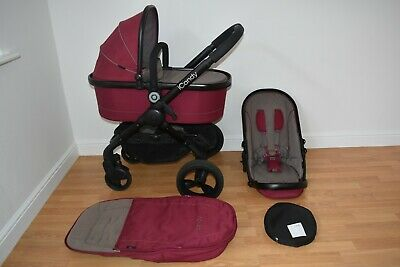 Travel System 2in1 ICandy Peach 3 In Claret • 295£