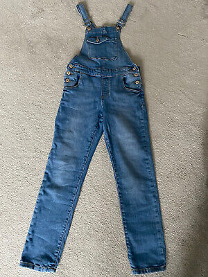 Zara Girls Denim Dungarees Age 10 • 2.99£