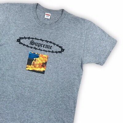 Supreme Burning Buddha Grey T-Shirt - L • 55£