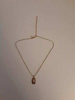 £6.99 • Buy Freedom Topshop Jewellery - Gold Necklace With Rose Pendant