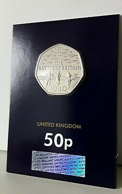 2015 Battle Of Britain 50p Fifty Pence Coin No Denomination Certified Bunc  • 31.49£