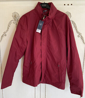 Atlantic Bay Mens Size M Cotton Blend Red Midweight Coat *NEW WITH TAGS* RRP £25 • 12£