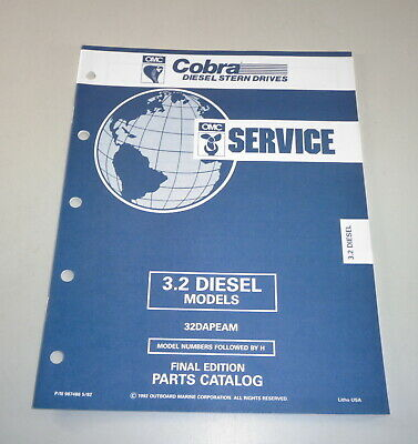 AU31.05 • Buy Parts Catalog Omc Cobra Outboard Motor Outboard 3.2 Diesel Models Stand 05/1992