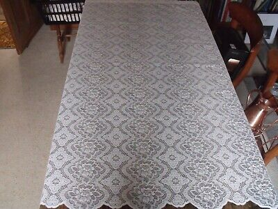 Vintage Lace Curtain Tablecloth Material • 5£