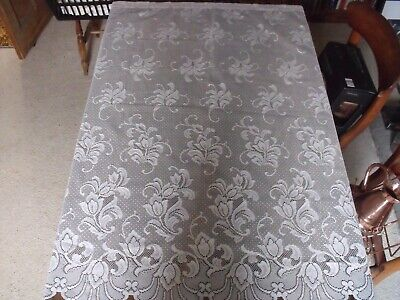Vintage Lace Curtain Tablecloth Material • 3£