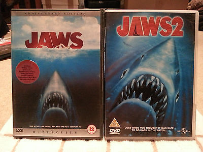 Jaws Anniversary Edition And Jaws 2 Double Set - VGC • 8.99£
