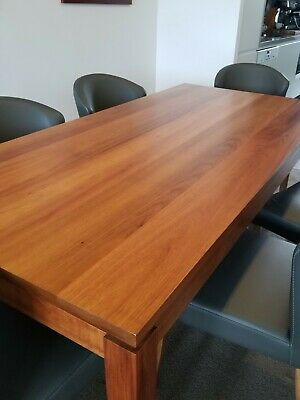AU1950 • Buy Solid Tasmanian Blackwood 6 Seater Dining Table And Chairs