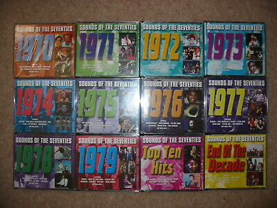 Readers Digest Sounds Of The Seventies Complete 70s 12 X 3CD Sets Pop Rock Hits • 399£