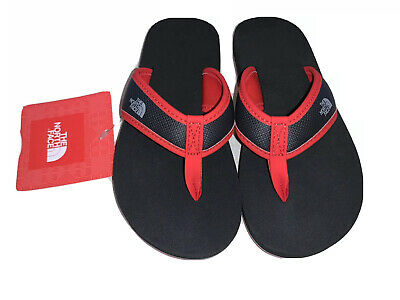 The North Face Youth Boys Base Camp Flip Flops Size 12 Black Red NWT • 21.45£