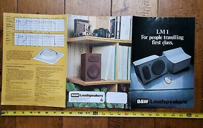 $ CDN25.12 • Buy Vintage 1980s B&W Stereo Speakers Color Photo Print Advertisement Rare UK LM1/PM