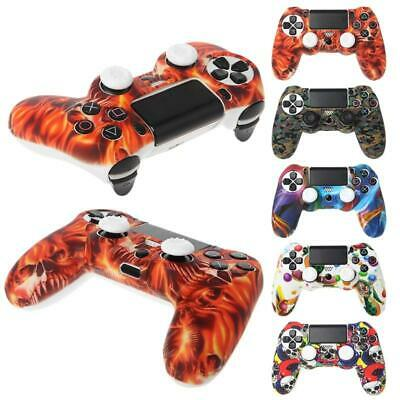 AU5.11 • Buy Silicone Gamepad Skin Grip Cover Protector Case + 2 Caps Kit For PS4 Controller