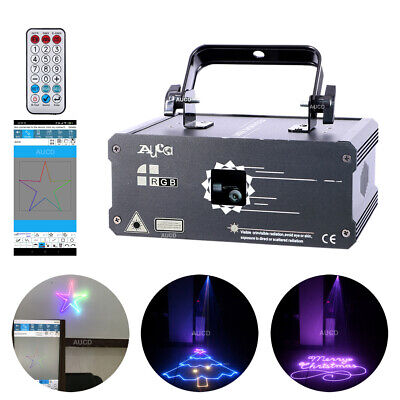 AU296.55 • Buy 1W APP Program Animation Laser Lights DMX Party DJ Remote Stage Effect Projector