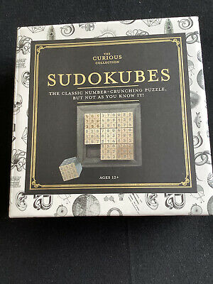 Sudokubes - Wooden Sudoku Game Puzzle For Adults- New In Box • 5£