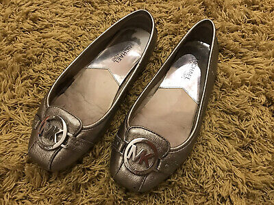 Michael Kors Pewter Silver Slip On Ballet Shoe Size 4 UK • 0.99£
