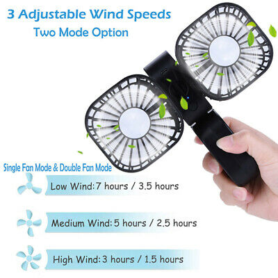 AU24 • Buy Mini USB Rechargeable Handheld Table Fan Flexible Foldable 3 Speed Adjustable