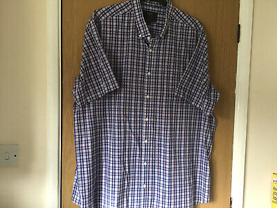 BHS Atlantic Bay Mens Casual Short Sleeve Shirt XXL VGC • 7.99£
