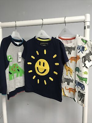 Boys Blue Zoo X3 T Shirt / Jumper ( A13 18) Nwot Age 2/3 Years • 14.99£