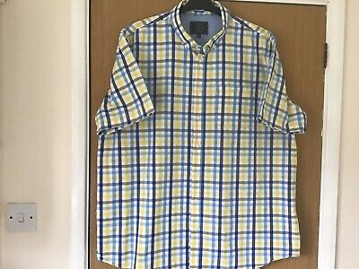 BHS Atlantic Bay MENS Short Sleeved Shirt Size 2XL VGC • 7.99£