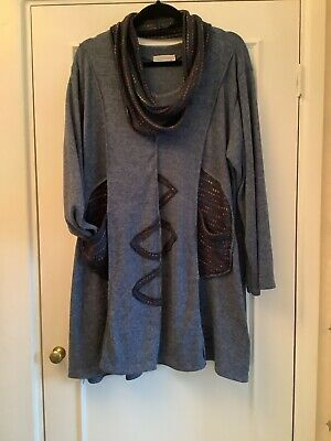 Made In Italy Lagenlook Tunic Plus Size 18 20 22 24 26 • 12£
