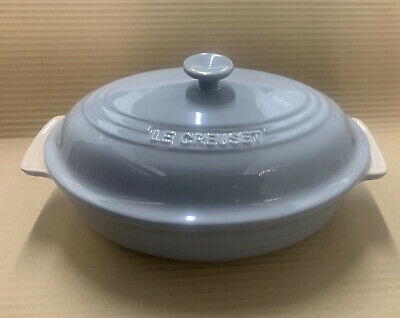 £64.99 • Buy LE Creuset Oval Stoneware Casserole Dish With Lid -30cm ( Mist Grey )