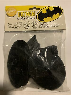 Batman Cookie Cutters Wilton 1989 New Still In Package Set Of 4 Joker DC Comics • 10.61£