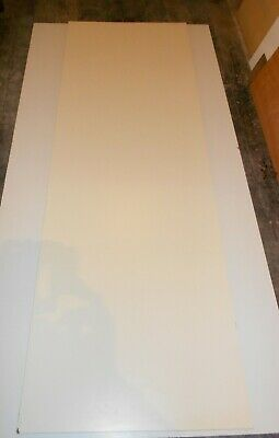 20mm LAMINATE FACED MATT MILKY-WHITE 2410mm X 810mm PLYWOOD SHEET - COLLECTION • 14.99£