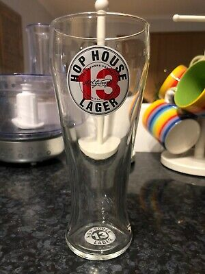 Hop House Lager 13 Pint Glass Bar Home Pub Man Cave Preloved • 2£