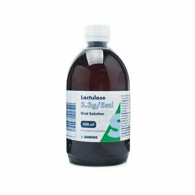 SANDOZ LACTULOSE SOLUTION - 500ML BOTTLE  - CONSTIPATION RELIEF LAXATIVE Oral • 5.50£
