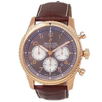 £9408.95 • Buy Breitling Navitimer 8 B01 18k Rose Gold Leather Auto Bronze Men's Watch RB0117