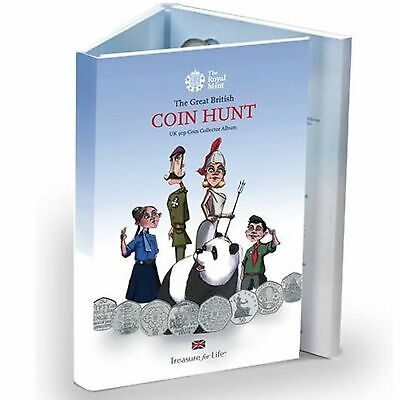 Royal Mint Great British Coin Hunt 50p Fifty Pence Album 1997- 2017  New EMPTY • 39.99£