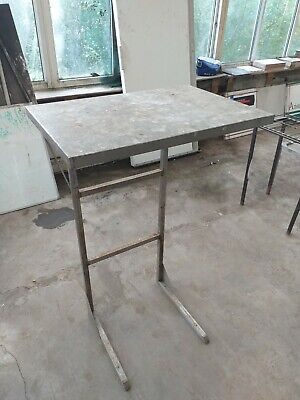 Metal Table Kitchen Commercial Steel Aluminium Work Tall Garage Square Shelf Top • 44.99£